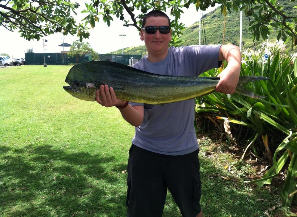 Hawaiian dolphinfish fly fisherman for Fly fishing kauai