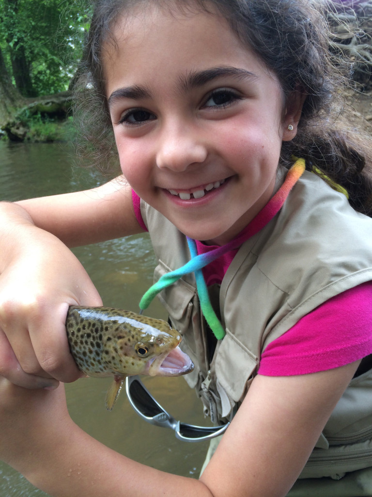 First brown fly fisherman for Trout fishing in helen ga