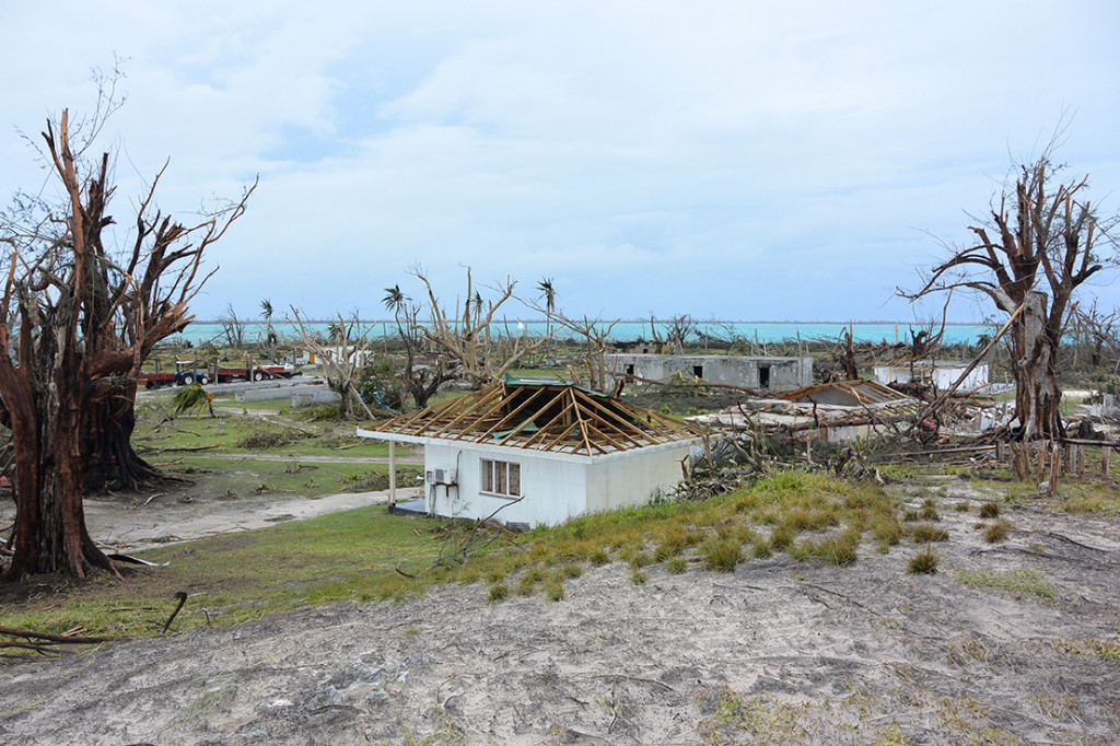 Farquhar Atoll after the cyclone, April 2016