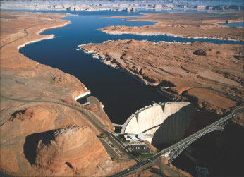 As reported in the New York Times last month, the Glen Canyon Dam below Lake Powell in Utah is