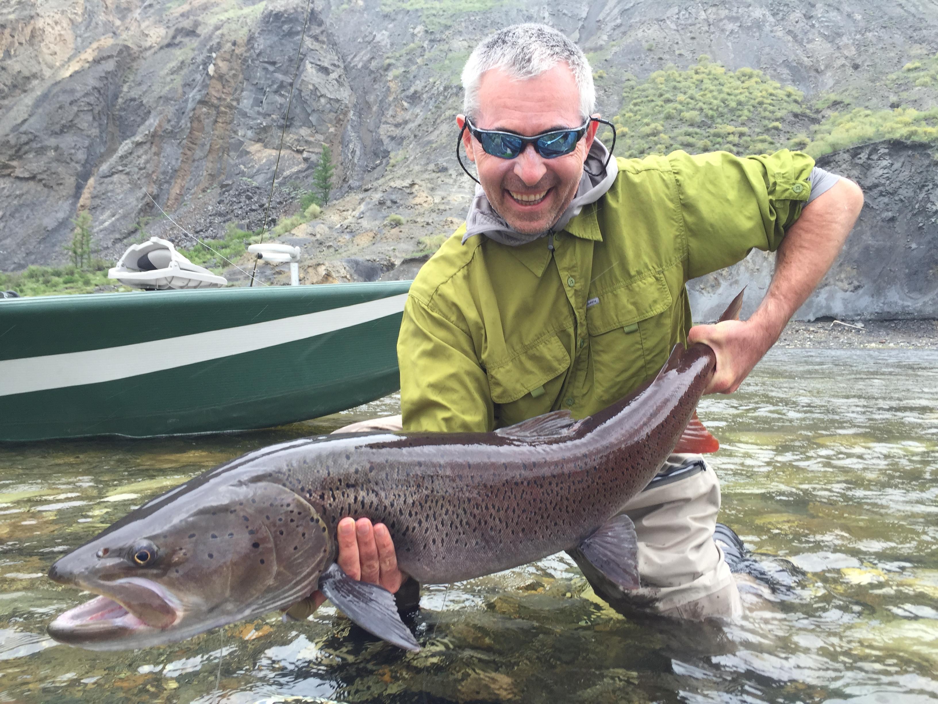 Mongolia taimen fly fishing june 2016 fly fisherman for Fly fishing mongolia