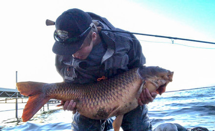 World Record Common Carp On The Fly