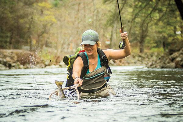 Landing Fish on Brodhead Creek