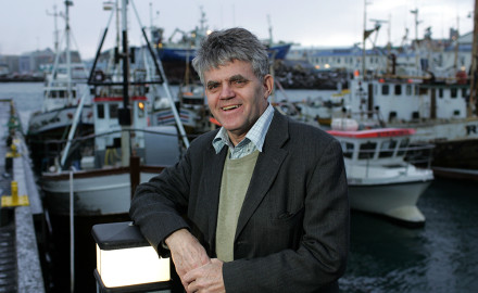 Over the course of his 27 years leading the North Atlantic Salmon Fund, Orri Vigfússon did more to conserve and enhance salmon stocks than any other single person. Photo by Golli
