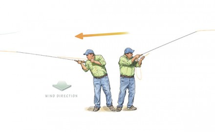 Casting in wind is tough, and getting frustrated doesn't help. Take a deep breath, and think it through. Here's some expert advice for fishing windy days.