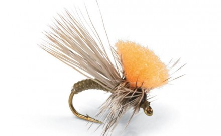 The Clown Shoe Caddis is tailor-made to suspend heavy dropper nymphs, even in turbulent water.