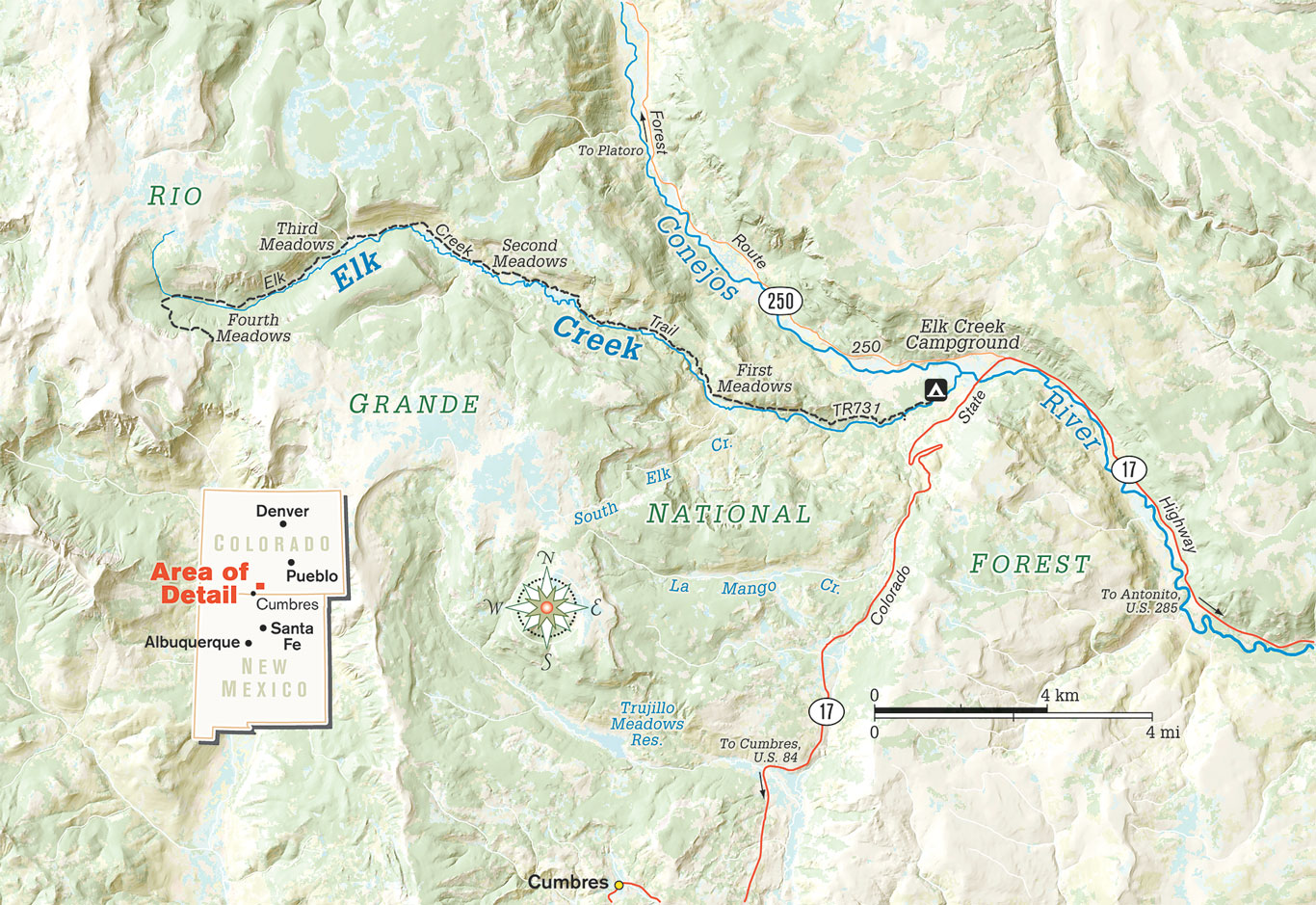Elk Creek Map
