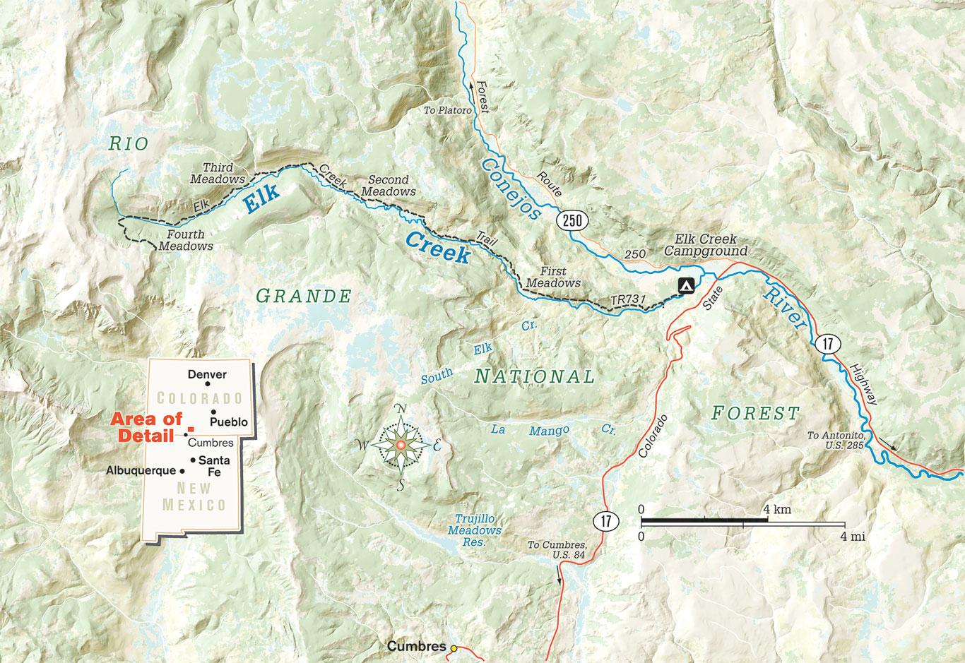 Elk Creek Map