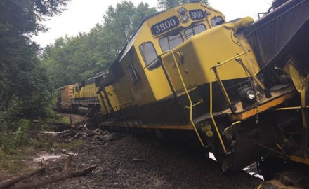A train derailment spilled some 4,000 gallons of diesel into the West Branch of the Delaware River.