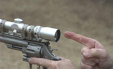 Technical Editor Dick Metcalf shows how to quickly acquire your sight picture with scope-mounted