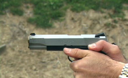 Legendary handgunner Rob Leatham discusses the advantage of the 1911 semi-auto pistol's trigger