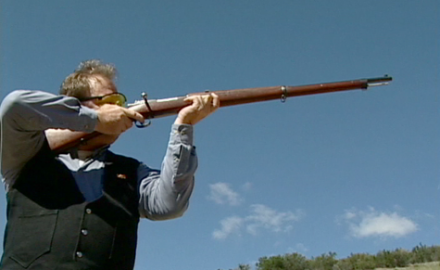 Richard Venola shoots a 1895 Mauser, a rifle that saw action in the Spanish-American War and the