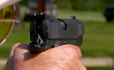 Sheriff Jim Wilson explains how dry firing is a useful method for practicing sight alignment,
