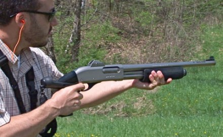 Gun review video on Remington 870 Marine Magnum w/ Blackhawk Pistol Grip .