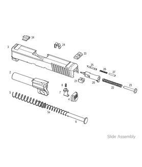 Kahr P380 Slide Assembly