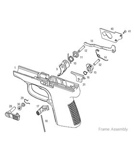 Kahr P380 frame assembly