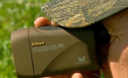 Nikon's new laser range finder includes an inclinometer to help compensate for shooting at steep