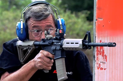 If one of your arms becomes wounded during an intense situation, learn how to handle a rifle with