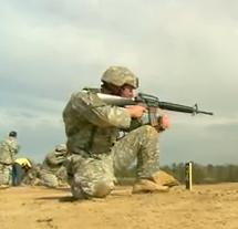 David Fortier visits Ft. Benning to see how the Army teaches soldiers to manage recoil and shoot in