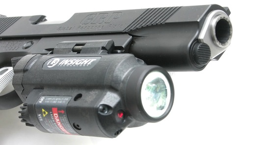 The Insight WL1 AA has an adjustable laser sight.