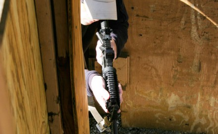 At six and a half pounds, the Patrol Rifle is easily maneuverable in tight places, and will not fatigue the upper body as you move slowly and carefully through a building.
