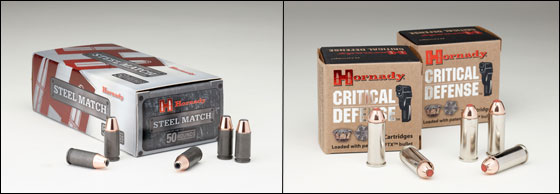 Steel Match loads approximate the bullet weight and velocity of Hornady's XTP and Critical Defense lines, but run about half the price.