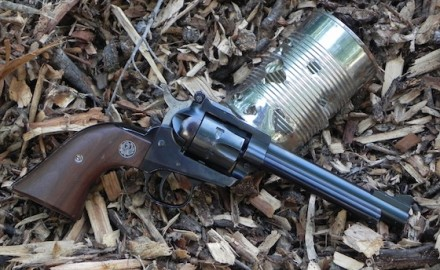 Ruger Single-Six with tin can