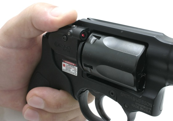 The Bodyguard 38 has an integral laser sight that is fully adjustable for windage and elevation.