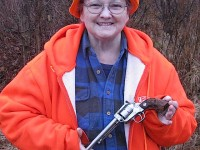 Gerry Kennedy beams with happiness when her revolver was finally recovered.