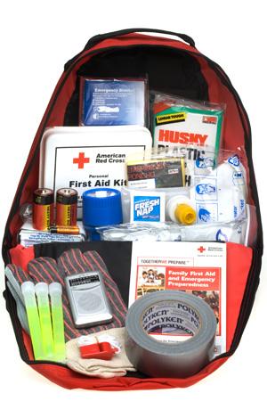 Emergency go bag supplies