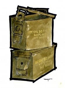 Ammo cans illustration