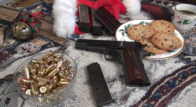 "Santa Shoots ""Jingle Bells"" with his 1911"