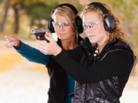 Women shooting