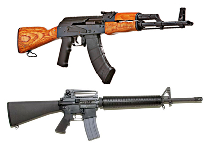 ak vs m16 The soviet-made ak-47 and the american m16, the primary assault rifles deployed during the vietnam.