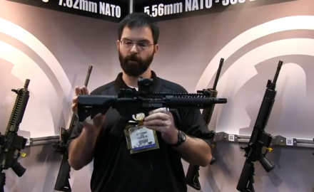 If you're looking for a short-range rifle that's quieter than the MP5, LWRC International has the