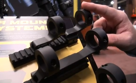 Nikon introduced its line of AR Mount Systems at SHOT Show 2012 in Las Vegas. The series includes