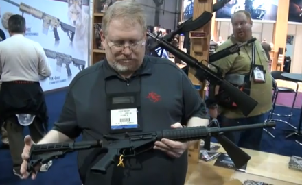 Rock River Arms introduced its brand new LAR-47 rifle at SHOT Show 2012 in Las Vegas. The LAR-47