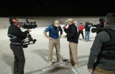Chad Adams interviews Tommy Thacker after his win in Vegas (courtesy Dianna Liedorff)