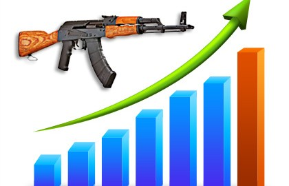 Gun sales were up in the U.S. during 2011. The good news for the industry is that business in 2012