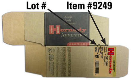 Hornady issued a recall of seven lots of its FTX Custom pistol ammo, according to a press release