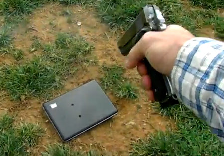 Viral Video: Father Shoots Facebook Brat's Laptop with 1911