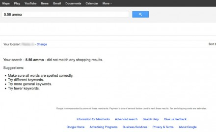 Yesterday, after searching for whatever firearm-related term on Google --