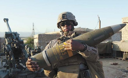 A U.S. Marine artillery battery's strike on a group of insurgents not only took out a few