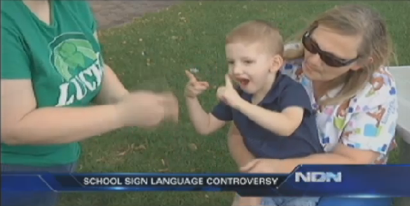 Deaf 3-Year-Old Asked to Change Sign for Own Name over Gun Similarity