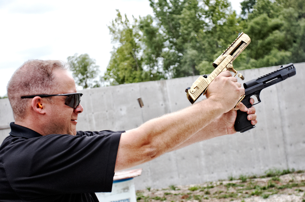 At the Range: Dual-Wielding Magnum Research Desert Eagles
