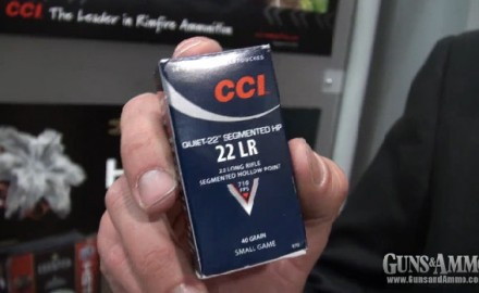 CCI Ammunition introduced its brand new CCI Quiet-22 Segmented HP .22LR at the 2013 SHOT Show in