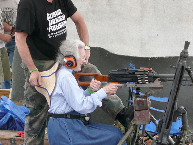 Caption Contest: Belt-Fed Granny
