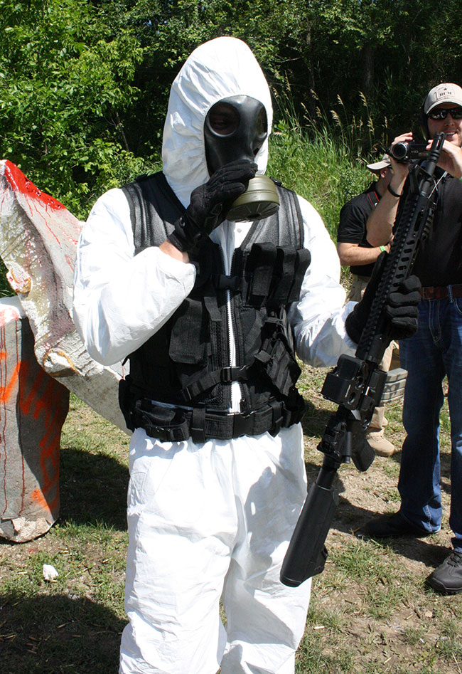Caption Contest: The Zombie Hazmat Suit