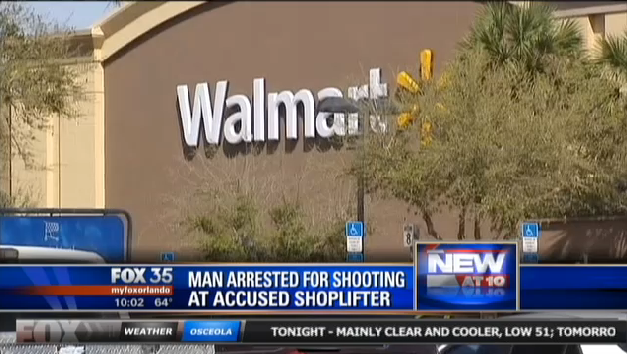 Florida Man Arrested for Shooting Thief's Car at Walmart