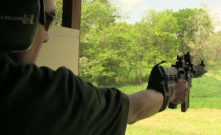 Shooting an AR-15 pistol doesn't have to look and feel awkward. Originally developed for a disabled